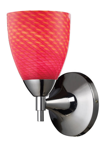 ELK Lighting Celina Celina 1-Light Sconce In Polished Chrome With Scarlet Red Glass - 10150/1PC-SC - PeazzLighting