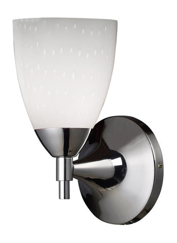 ELK Lighting Celina Celina 1-Light Sconce In Polished Chrome And Simple White Glass - 10150/1PC-WH - PeazzLighting