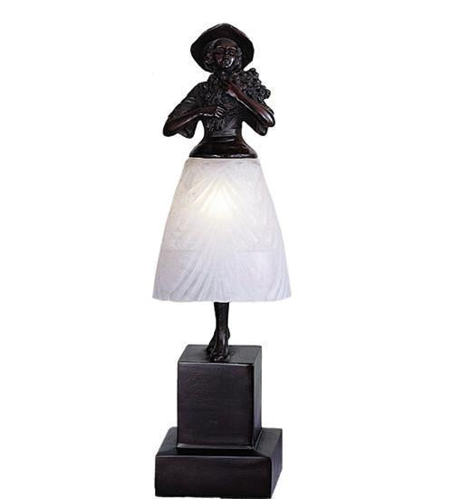 Meyda Tiffany 24116 Silhouette Lady With Bouquet Accent Lamp