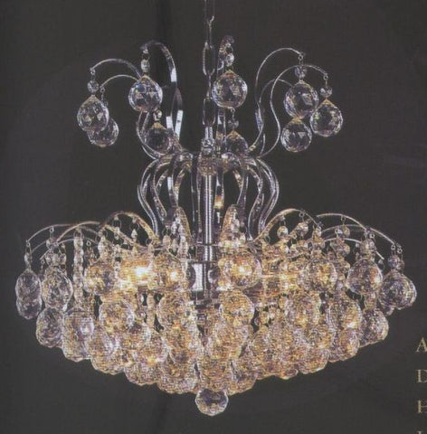 Audrey 6 Light Crystal Chandelier, Chrome Finish - PeazzLighting