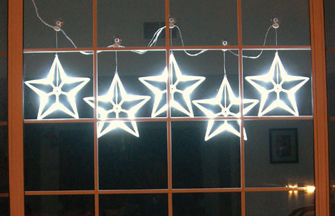 HomeBrite LED Light White Stars Set of 5 - PeazzLighting