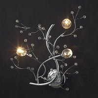 Tomia Crystal Chandeliers N 2250/03/300 chrome Nature Collection Myla Contemporary Wall Sconce - PeazzLighting