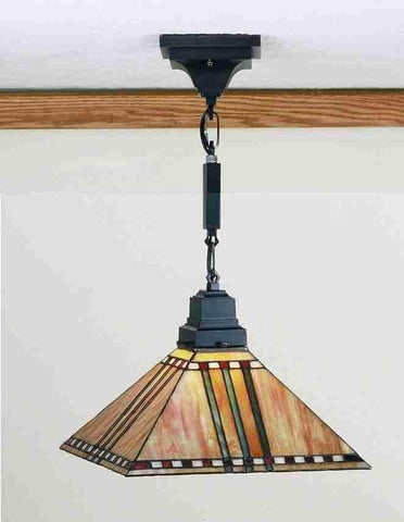"Meyda Tiffany 49158 13""Sq Prairie Corn Pendant - PeazzLighting"
