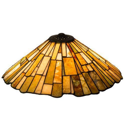 "Meyda Tiffany 74019 21""W Delta Jadestone Shade - PeazzLighting"