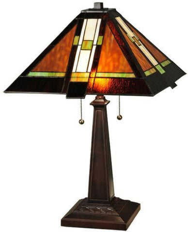 "Meyda Tiffany 132673 24""H Montana Mission Table Lamp - PeazzLighting"