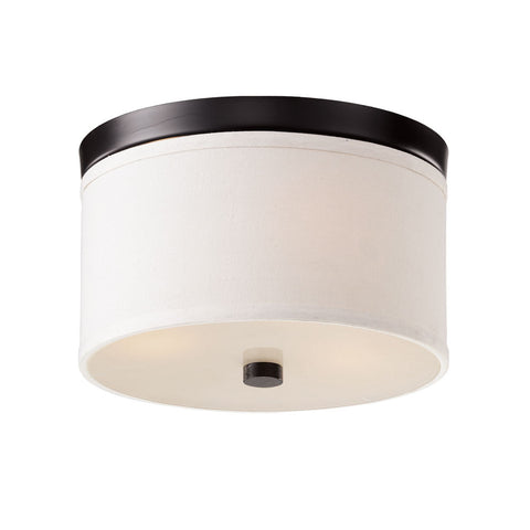 Bromi Design B5304B Braxton 10 Inch Round White and Black Drum Pendant - PeazzLighting