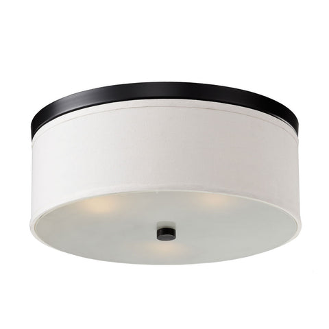 Bromi Design B5302B Braxton 20 Inch Round White and Black Drum Pendant - PeazzLighting