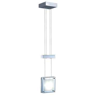 Jesco Lighting PD306-1CH The elegant ensemble of square modules features a choice of chrome, glass, or birch wood trimming which may be custom-stained - PeazzLighting