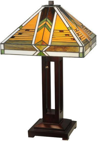 "Meyda Tiffany 130749 24""H Abilene Table Lamp - PeazzLighting"