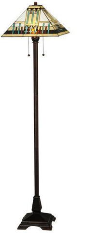 "Meyda Tiffany 138129 62""H Zaragoza Mission Floor Lamp - PeazzLighting"