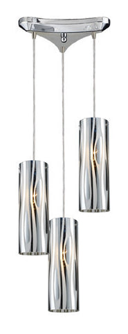 ELK Lighting 31078-3 Chromia Three Light Pendant In Polished Chrome - PeazzLighting