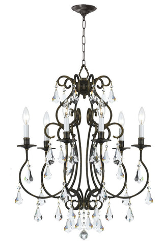 Crystorama Clear Hand Cut Crystal Chandelier 6 Lights - English Bronze - 5016-EB-CL-MWP - Peazz.com