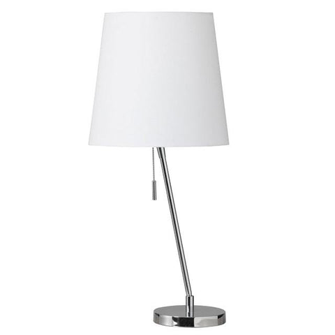 Dainolite 546T-PC Canting Table Lamp w/Linen Shade - Peazz.com