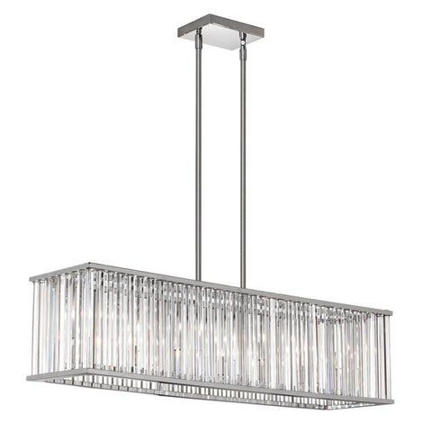 Dainolite ARU-306HP-PC 7 Light Horizontal Crystal Chandelier - Peazz.com
