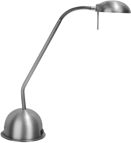 Dainolite Satin Chrome Adjustable Reading Lamp Bulb Included DLHA730-SC - Peazz.com
