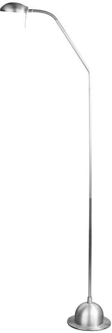 Dainolite Satin Chrome Adjustable Floor Lamp Bulb Included DLHA730F-SC - Peazz.com