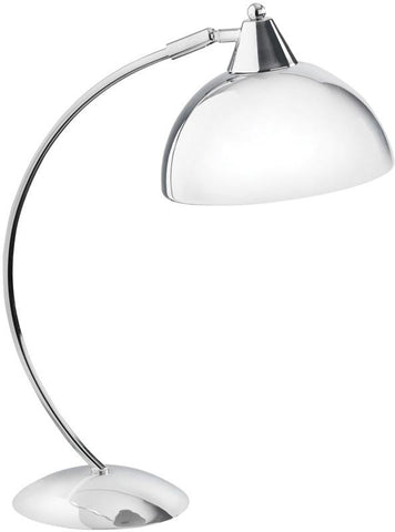 Dainolite Polished Chrome Arc Desk Lamp Metal Shade DM255-PC - Peazz.com