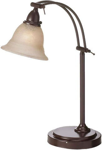 Dainolite Expresso Metal Construction Table Lamp Champagne Frosted Glass DM314-ES - Peazz.com