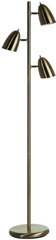 Dainolite Antique Brass 3 Head Adjustable Floor Lamp DM330F-AB - Peazz.com