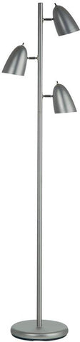 Dainolite Satin Chrome 3 Head Adjustable Floor Lamp DM330F-SC - Peazz.com