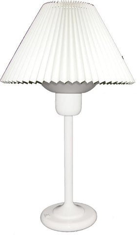 Dainolite White Table Lamp With 200 Watt Bulb Included DM980-WH - Peazz.com