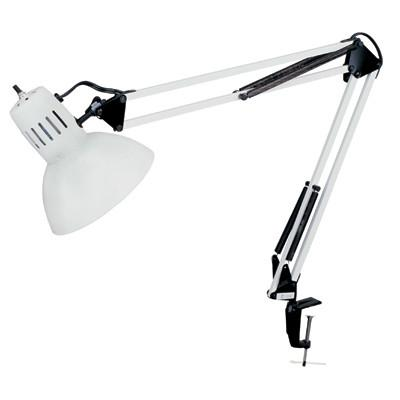 Dainolite White 100 Watt Clamp-On Lamp DXL334-X-WH - Peazz.com