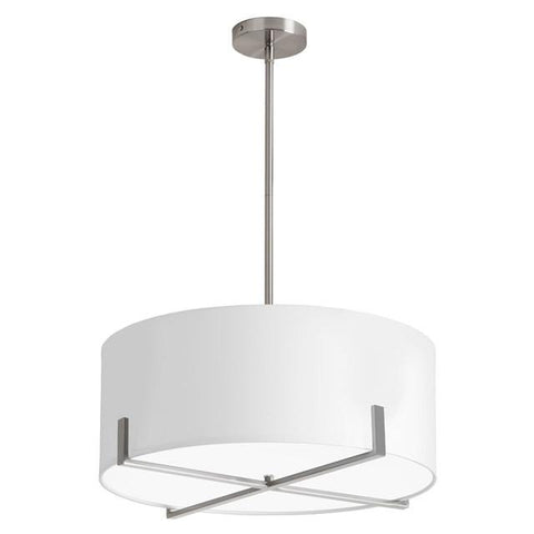 Dainolite LAR-183P-SC 1 Light Pendant w/WH Drum Shade - Peazz.com