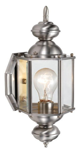 Design House 514869 514869 Augusta Sm Outdoor Uplight Sn Satin Nickel - Peazz.com