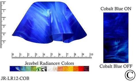 "Jezebel Radiance® Small Lily Cobalt Blue Glass Pendant/Ceiling Fan Light Replacement Glass Shade, 1 5/8"" hole - Peazz.com"