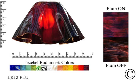 "Jezebel Radiance® Small Lily Plum Glass Pendant/Ceiling Fan Light Replacement Glass Shade, 1 5/8"" hole - Peazz.com"