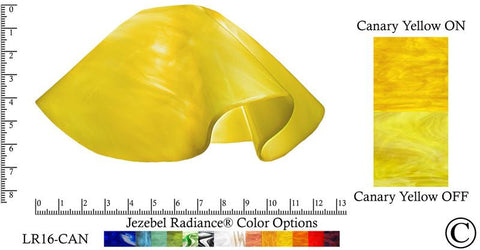 "Jezebel Radiance® Large Lily Canary Yellow Glass Pendant/Ceiling Fan Light Replacement Glass Shade, 1 5/8"" hole - Peazz.com"