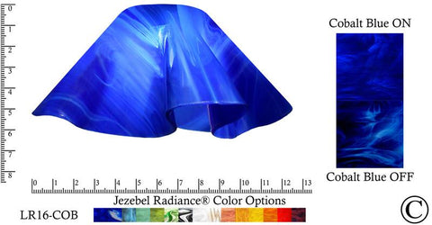 "Jezebel Radiance® Large Lily Cobalt Blue Glass Pendant/Ceiling Fan Light Replacement Glass Shade, 1 5/8"" hole - Peazz.com"