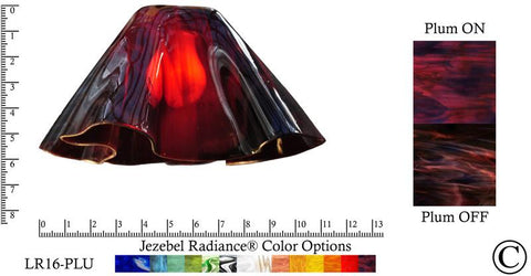 "Jezebel Radiance® Large Lily Plum Glass Pendant/Ceiling Fan Light Replacement Glass Shade, 1 5/8"" hole - Peazz.com"