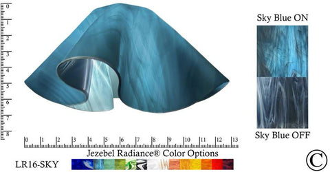 "Jezebel Radiance® Large Lily Sky Blue Glass Pendant/Ceiling Fan Light Replacement Glass Shade, 1 5/8"" hole - Peazz.com"