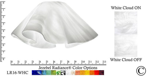 "Jezebel Radiance® Large Lily White Cloud Glass Pendant/Ceiling Fan Light Replacement Glass Shade, 1 5/8"" hole - Peazz.com"