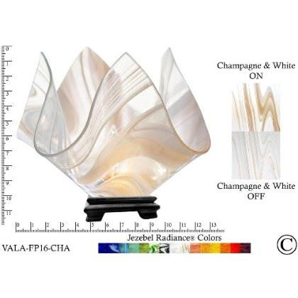 Jezebel Radiance® Large Flame Champagne and White Vase Lamp - Peazz.com