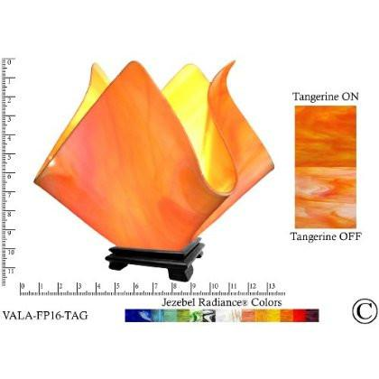 Jezebel Radiance® Large Flame Tangerine Vase Lamp - Peazz.com