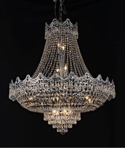 Tomia Crystal Chandeliers L 835/14/003 chrome/ Bohemian Crystal Royal Family Collection Jade Traditional Crystal Chandelier