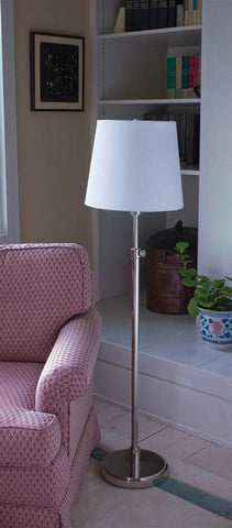 House of Troy TH701-PN Polished Nickel Adjustable Floor Lamp - Peazz.com