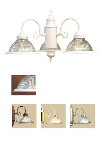 Woodbridge Lighting Basic 3-light White Chandelier - Peazz.com