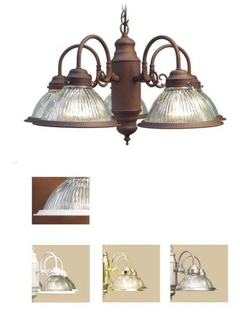 Woodbridge Lighting Basic 5-light Antique Bronze Prism Glass Chandelier - Peazz.com