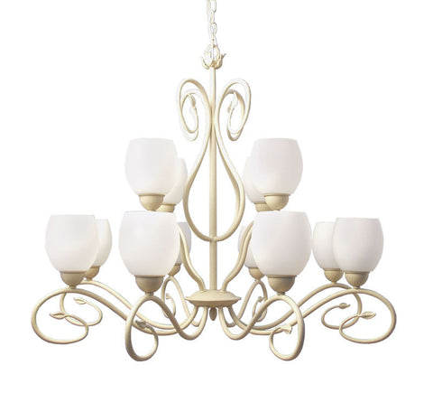 Woodbridge Lighting Champlaign 12-light Washed Gold Chandelier - PeazzLighting