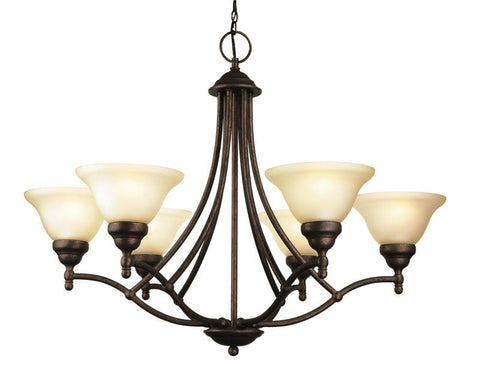 Woodbridge Lighting Anson 6-light Marbled Bronze Chandelier - PeazzLighting