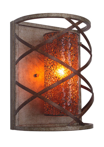 Woodbridge Lighting 12641VIN-M10AMB 1 Light Braid Wall Sconce - PeazzLighting