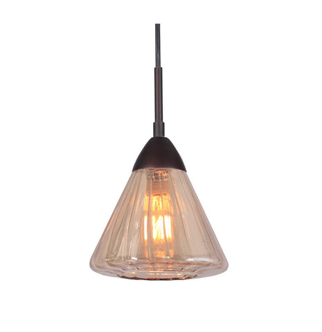 Woodbridge Lighting 13223MEB-C60633 1 Light Aspire Mini Pendant, Metallic Bronze - PeazzLighting
