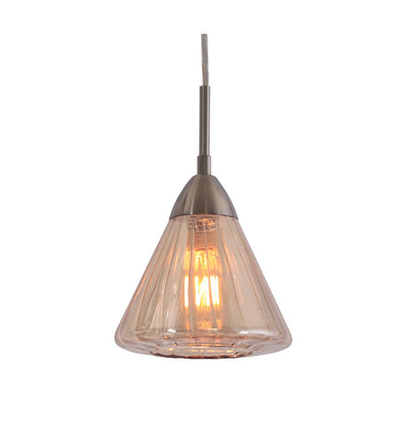 Woodbridge Lighting 13223STN-C60633 1 Light Aspire Mini Pendant, Satin Nickel - PeazzLighting