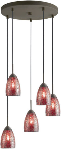 Woodbridge Lighting Venezia Indoor Lighting Mini Pendant Cluster 13225MEB-M20RDD - PeazzLighting