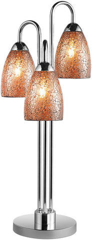 Woodbridge Lighting Venezia Indoor Lighting Table Lamp 13283CHR-M20AMB - PeazzLighting