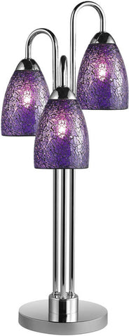 Woodbridge Lighting Venezia Indoor Lighting Table Lamp 13283CHR-M20PUR - PeazzLighting