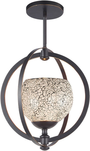 Woodbridge Lighting Cirque Indoor Lighting Mid Pendant 13320MEB-M00WHT - PeazzLighting
